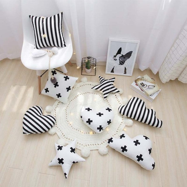 Baby Room Sofa Cushion Star Cloud Heart Home Travel Pillows Kids Room Decorative Fabric Toys Baby Shower Gift Christmas Present