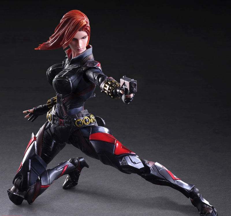 Play Arts Kai Black Widow Super Hero Age of Ultron Natasha Romanoff PA 27cm PVC Action Figure Doll Toys Kids Gift Brinquedos play arts marcus fenix game gears of war 3 war machine pa play arts kai 27cm pvc action figure doll toys