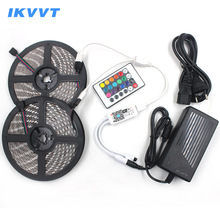 IKVVT WIFI 12V LED Strip RGB Tira led Ribbon Emitting Diode Tape Neon Light Power Supply 24 Remote Wireless Controller
