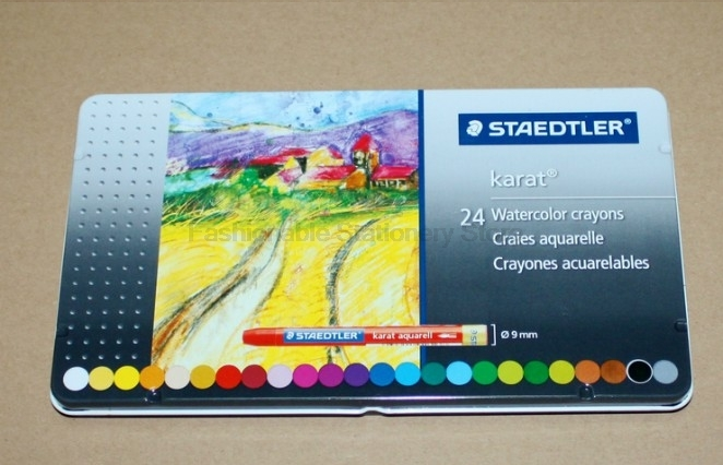 STAEDTLER 223 M|24 24 different colors Water-soluble Color crayons for Tin box packing Professional drawing color pencils boegli m 24