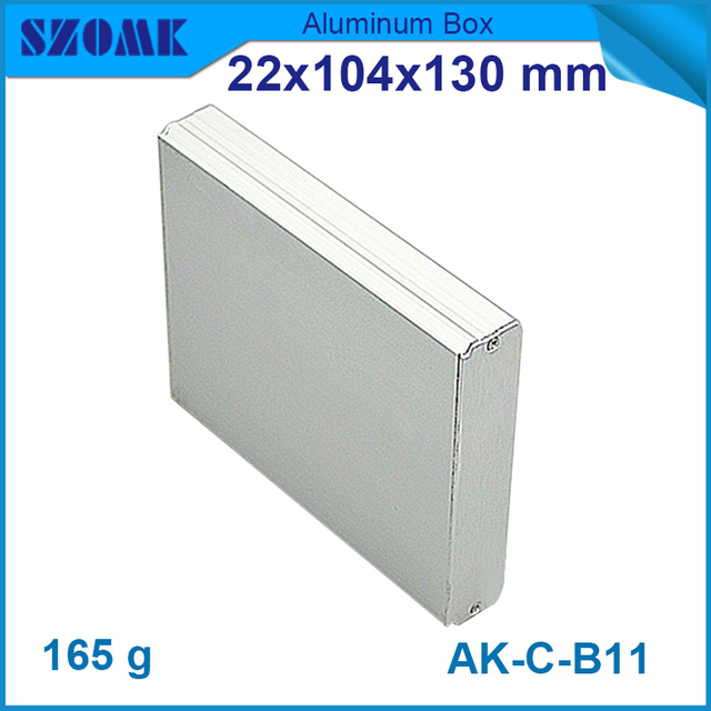 1 piece free shipping silver color anodizing powder coating szomk 1 piece free shipping silver color anodizing powder coating szomk diy aluminum extruded enclosure 22 sciox Choice Image