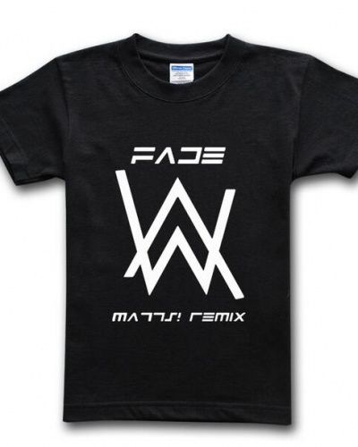 New Brand Mens Alan Walker T Shirt Fade Design Short Sleeve Tee For Summer