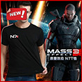 Hot Sale N7 Mass Effect 3 T Shirt Systems Alliance Military Emblem Game Tee T-Shirt M-XXL