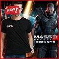 Venda quente Sistemas de Mass Effect N7 3 T Camisa Aliança Emblema Militar Jogo Tee T-Shirt M-XXL