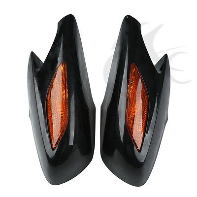 Rear View Mirrors Orange Signals Lens For Honda ST1300 2002 2011 03 04 05 06