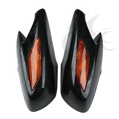 Rear View Mirrors Orange Signals Lens For Honda ST1300 2002 2011 03 04 05 06