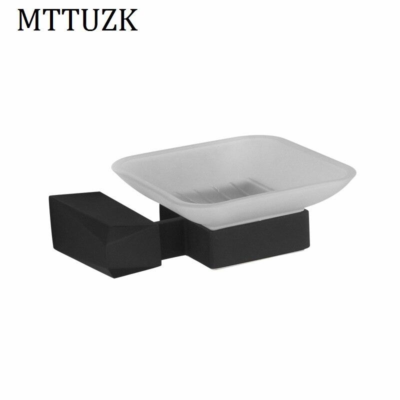 Mttuzk bathroom accessories black chrome soap dishes matte - Black and chrome bathroom accessories ...