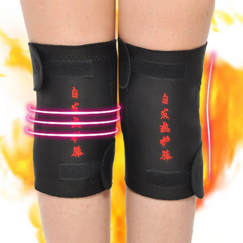 2 Pcs/lot Health Care Tourmaline Self-Heating Knee Pads Far Infrared Magnetic Therapy Spontaneous Heating Pad High Quality
