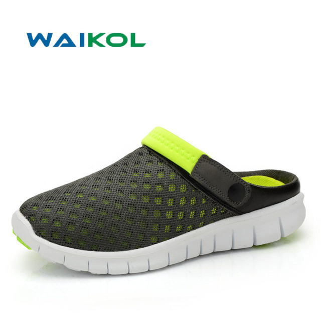 bb277afa844e16 Waikol Summer Shoes Cross Male Ventilative Sandals Trend of Men's Casual  Shoes Slippers Hollow Garden Shoes