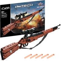 Can Shoot Soft Bullet LegoINGs Block Gun Military DIY 653pcs Building Blocks Bricks Weapon Model Educational Toys for Children