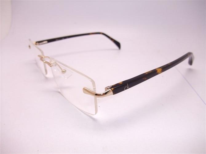 the new ck5245a frameless frames for men and women fashion glasses frame punched myopia glasses frame