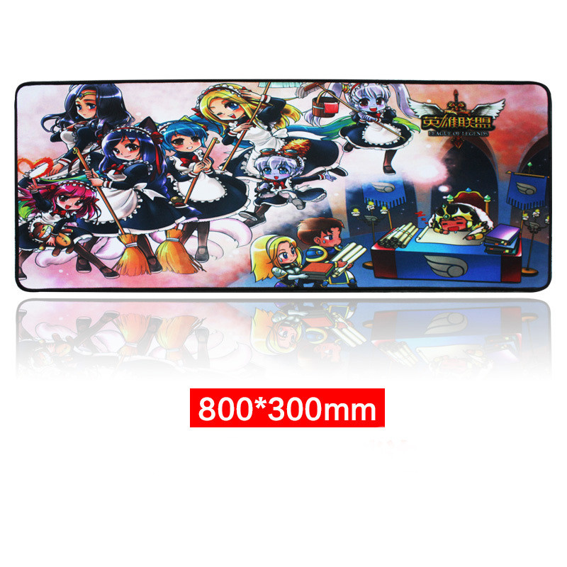 Rubber Large XL 8003003mm Gaming Mouse Pad Laptop Keyboard Mat Stitched Edges_5