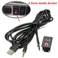 Car Portable 3.5mm USB AUX Headphone Male Jack Mount Adapter Panel Input Kit Car Styling Parts