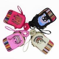 Fashion Mini Cute Girl Coin Purse Flap Handbag National Handmade Lady Canvas Portable Women Casual Gift Shoulder Hand 2019 Bags