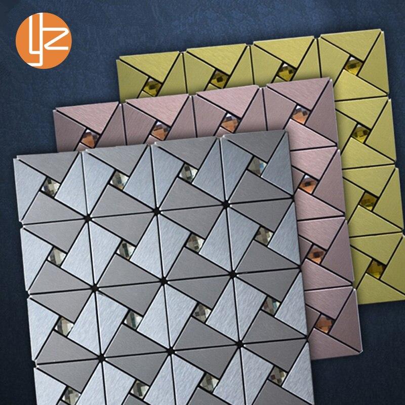 US $8.36 35% OFF Yazi Metall Geometrische Muster Wandbild 3d Tapete Luxus  Wände Papier für Wohnzimmer Schlafzimmer Bad Küche Wände Dekoration-in ...