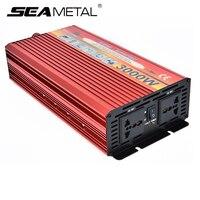 Инвертор 12 В 220 В 4000 Вт 3000 В Автомобильные инверторы 12 220 авто зарядное устройство комплект адаптер мощность Инвертор напряжение трансформат