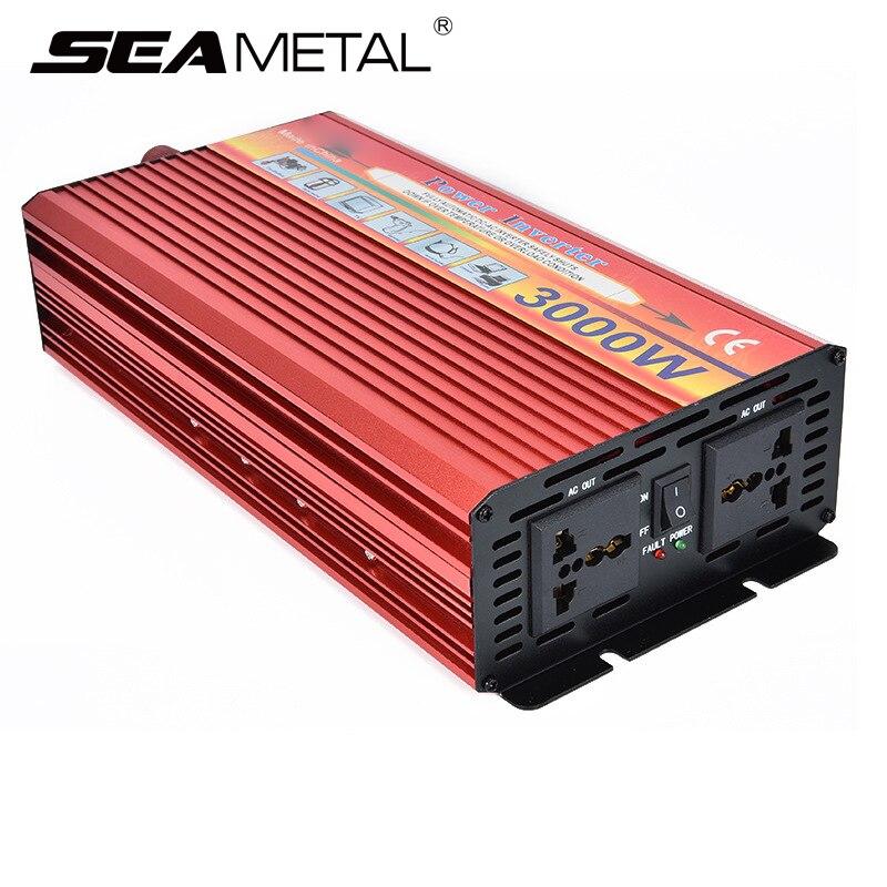 Inverter 12V 220V 4000W 3000V Car Inverters 12 220 Auto Charger Kit Adapter Power Inverter Voltage Transformer Converter car inverter 12v 220v power inverters voltage transformer converter 12 220 1000w charger on display solar adapter 12v 220v dy104