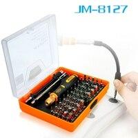 Yeni Jakemy JM-8127 ile 53 1 Hassas Manyetik Tornavida Set Torx Hex Çapraz Düz Y Yıldız Tornavida telefon Pc için