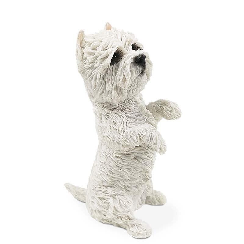Mnotht 1/6 West Highland Terrier Perro Animal Postura Modelo de - Figuritas de juguete - foto 6