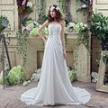 Under 100 In Stock Cheap Pleated Chiffon Ivory Bridal Dress Strapless Wedding Gowns Simple Beading White Beach Wedding Dresses