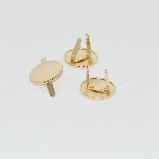 (100 PCS/lot) Bag Handbag Zinc Alloy Decorative Taro Round Glossy Sign Hardware Accessories
