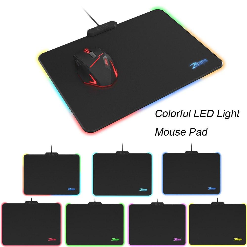 Tapis de souris de jeu LED USB RGB tapis d'éclairage anti-dérapant tapis de souris luminescente 7 couleurs pour Macbook ordinateur portable PC souris PC tapis de bureau