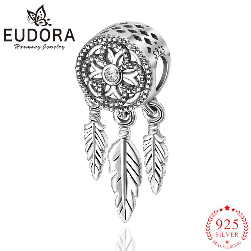 Eudora Genuine 925 Sterling Silver Beautiful Dream Catcher