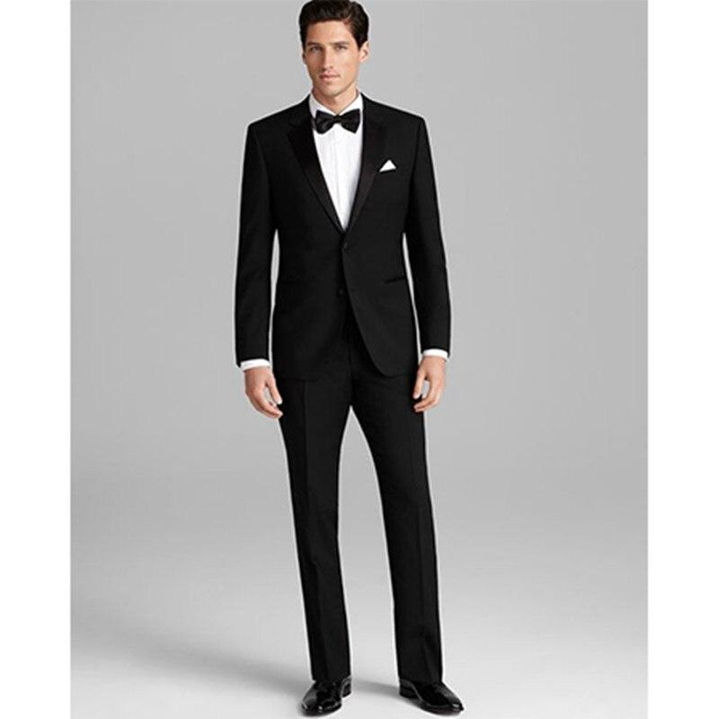 bespoke font b suit b font groom tuxedo black slim fit font b men b font