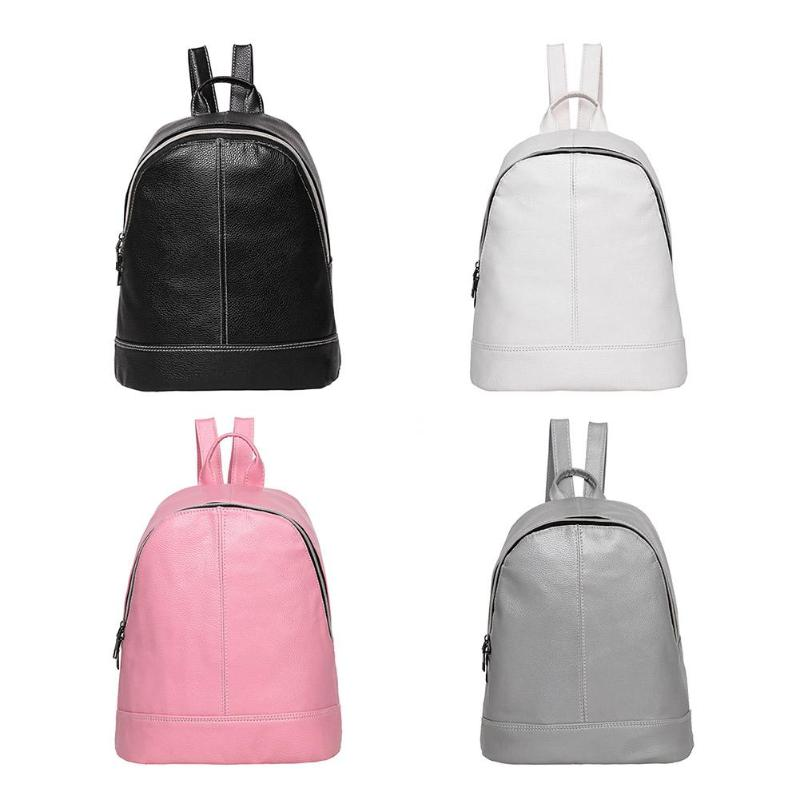 4 Colors Top Selling Women Backpack Preppy Style Double Zipper Travel School Bag For Teenager Girls Litchi Leather4 Colors Top Selling Women Backpack Preppy Style Double Zipper Travel School Bag For Teenager Girls Litchi Leather