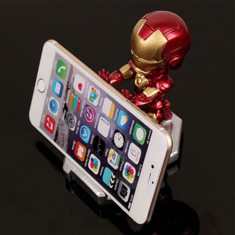 Mobile Phone Holder For Iphone X Samsung S10 Huawei P30 Xiaomi Hulk Captain America Iron Man Marvel Avenger Desktop Holder