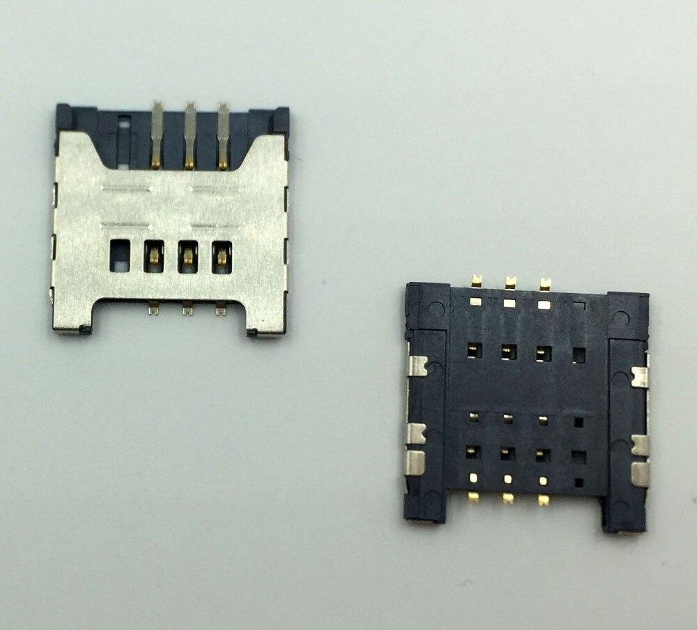 100pcslot original New Sim Card Socket Reader repair For Samsung Galaxy i9000 I9003 I8700 S5360 S5570 I9220 N7000 free shipping