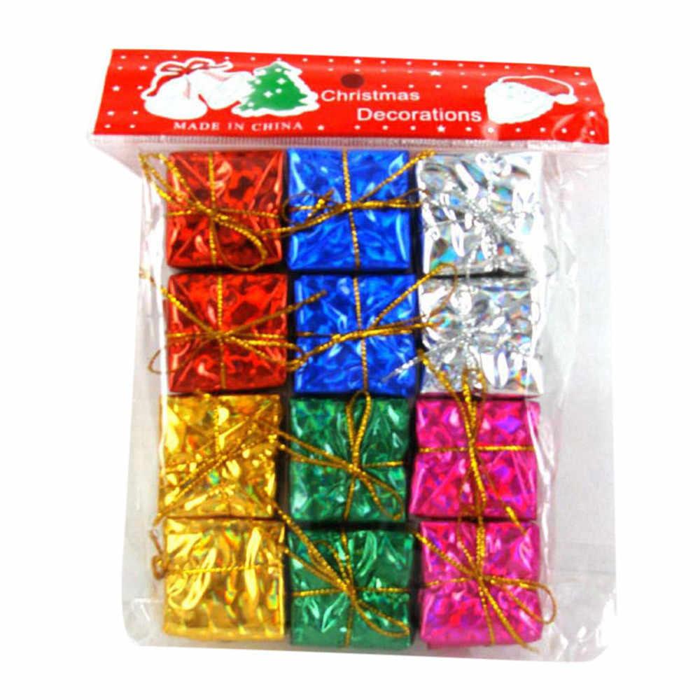 12 יח'\חבילה תליית מיני 2.5cm כיכר קצף אריזת מתנה תליוני Drop קישוטי חג המולד קישוט ילדים לשחק #15
