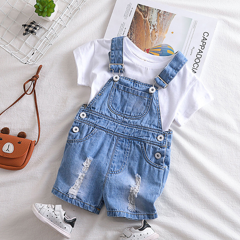 Toddler Baby boy Overalls Trousers Jeans Denim Jumpsuit Kids Baby Bib Pants Overalls Suspenders Short Pant Outfit kid pants