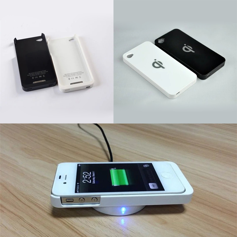 4 4S QI Wireless Charger Charging Receiver Cover Case for