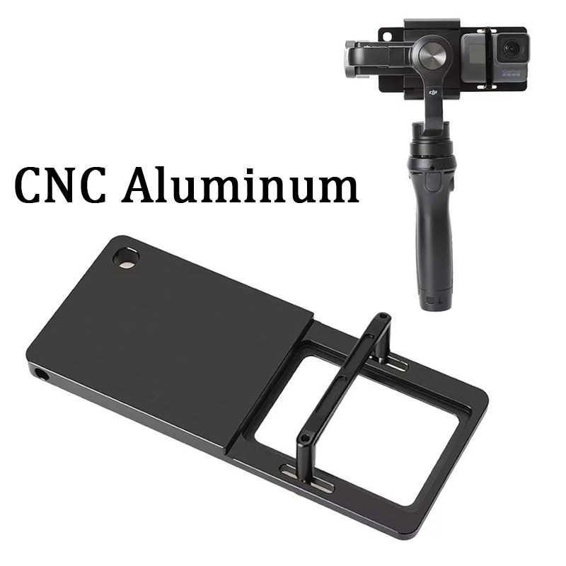 For GoPro Adapter For DJI Osmo Mobile 2 Zhiyun Smooth 4/3/Q Gimbal For Go Pro Hero 7 6 5 4 SJCAM XiaoYi 4K Switch Mount Plate