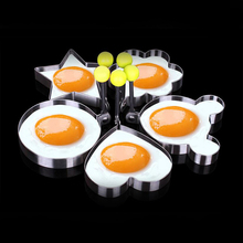 hot deal buy  zophil 5pcs stainless steel fried egg shaper omelette pancake ring maker mold forms kitchen cooking tools gadgets mould