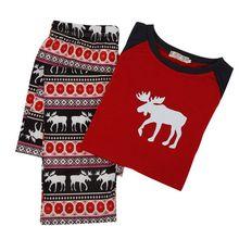 XSG Fashion Family Matching Clothes Christmas Pajamas Set Women Baby Kids Deer Sleepwear Nightwear Family Look