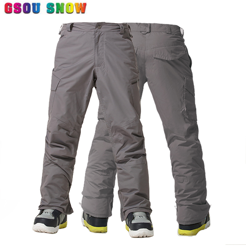 Gsou Snow -30 Degree Ski Pants Men Winter Thermal Breathable Snowboard Pants Waterproof 10000mm Outdoor Snow Trousers Plus Size