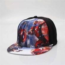 Kids Baseball Cap Fashion Iron Man Captain Superman Batman Spider-Man One Piece Snapback Caps Children Boys Hip Hop Hat