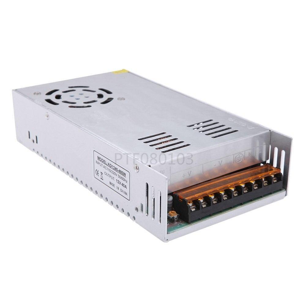 Nouveau 12 V 40A 480 W Commutateur D'alimentation de Commutation de Conducteur Pour LED Affichage de Lumière De Bande 110 V 220 V