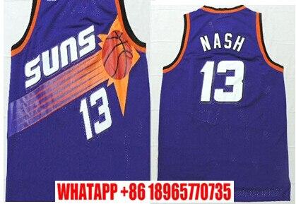 2e5b7b6662cb ... NEW Mens Basketball Jersey 13 Steve Nash Jersey Steve Nash Phoenix  Throwback Jersey Embroidered Logo Free Aliexpress.com Buy ...