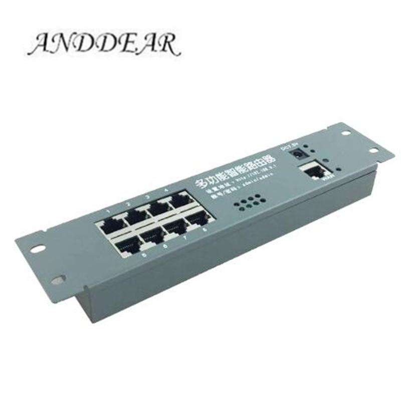 Mini Módulo de enrutador caja de metal inteligente con caja de distribución de cable 8 puertos router módulos OEM con placa base de módulo de enrutador de cable