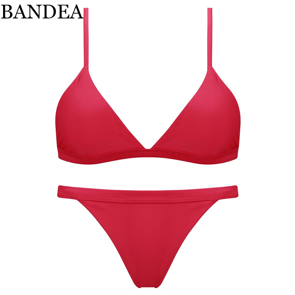 BANDEA brand bikini Sexy Micro Bikinis Women Swimsuit Swimwear Halter Brazilian Bikini Set Beach Bathing Suits Swim Wear Biquini