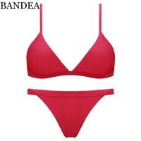 BANDEA brand bikini Sexy women Swimsuit halter Swimwear Brazilian Bikini Set Beach wear Bathing Suits Swimming Wear Biquini