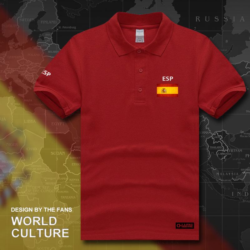 bdb5169465 Kingdom of Spain Espana polo shirts men short sleeve white brands ...