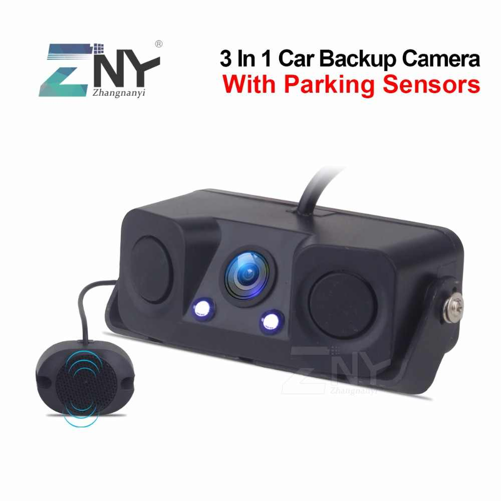 Auto Video Parking Sensor Achteruitrijcamera Met 2 Sensoren Auto Alarm Reverse Radar Assistance System Backup Camera