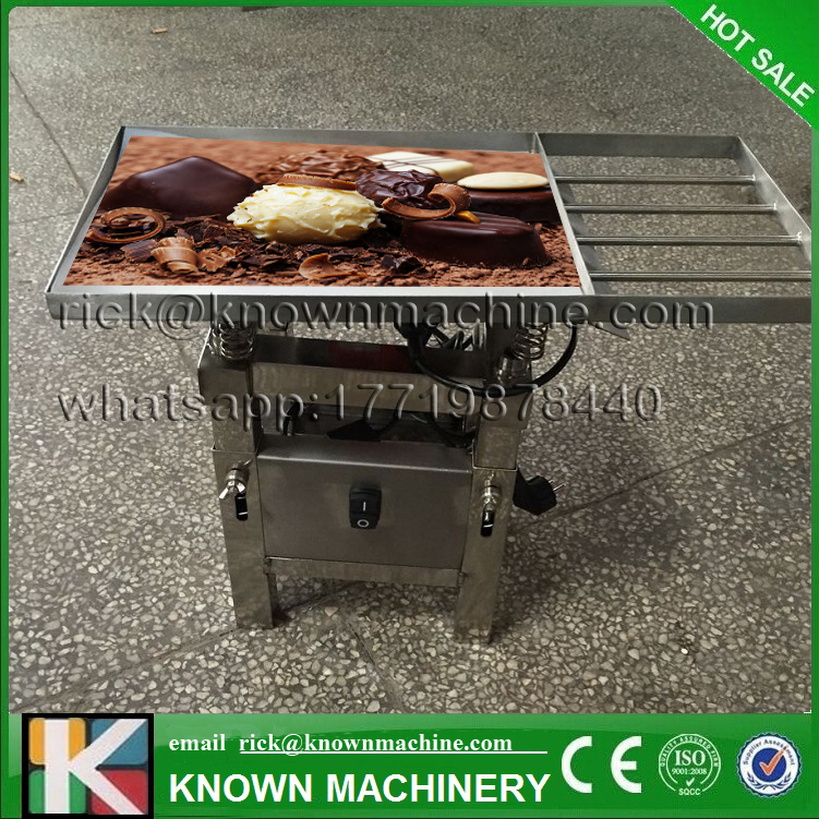 The hot selling 18kg Chocolate Vibration table machine free shipping vibration type pneumatic sanding machine rectangle grinding machine sand vibration machine polishing machine 70x100mm