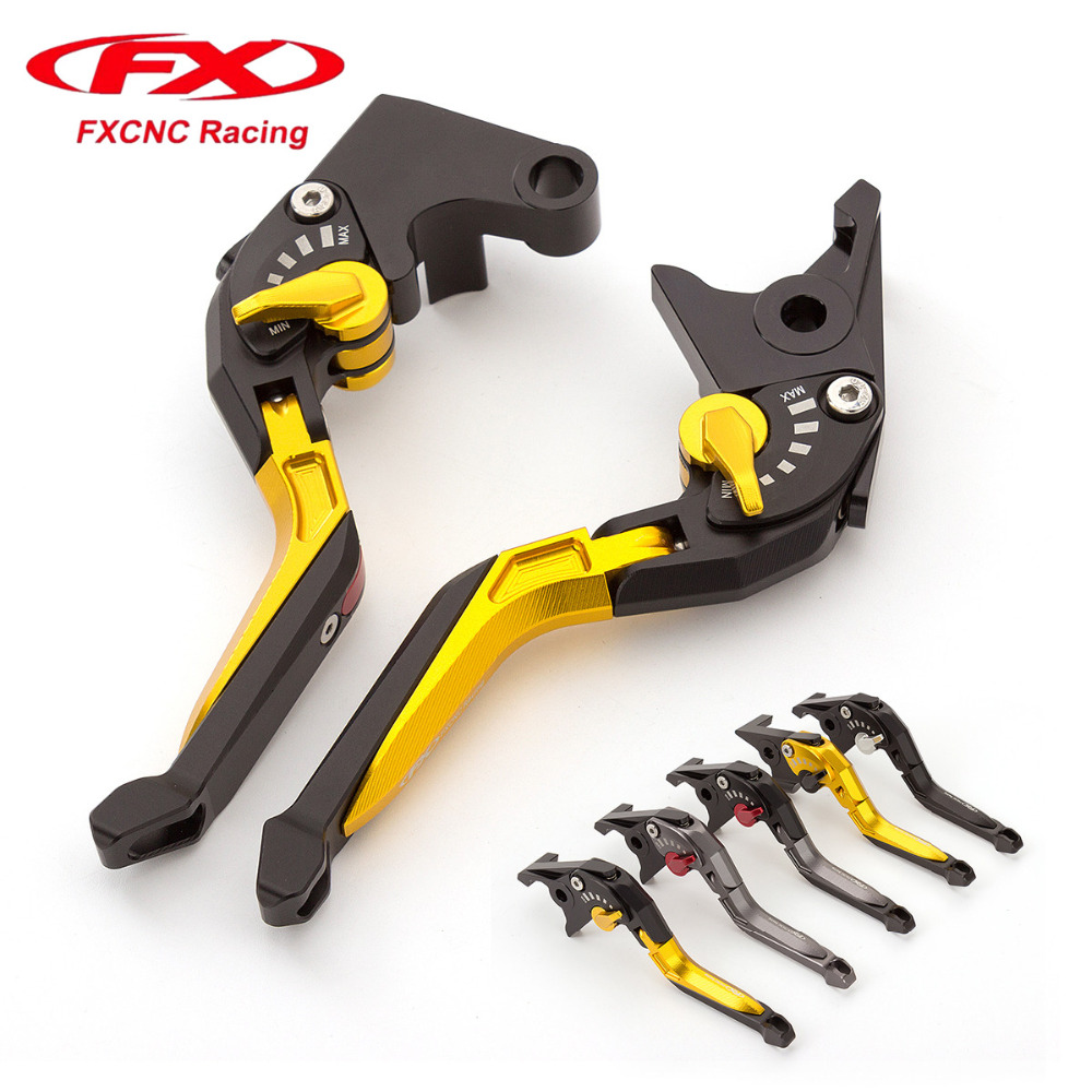 FX CNC Adjustable 3D Rhombus Motorcycle Folding Extendable Brake Clutch Levers For Kawasaki NINJA 300R Z300 2013 - 2017 2014 15