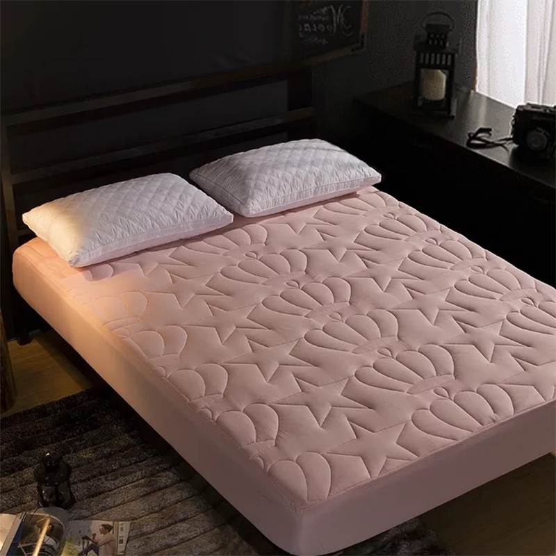 Lfh Quilted Mattress Topper Fitted Sheet Bed Mattress