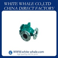 China low price Flange Connecting L type three way 1/2 inch Stainless Steel 304 ball valve price